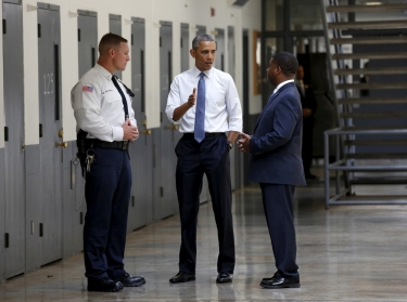 U.S. President Barack Obama tours the El Reno Federal Correctional Institution in El Reno, Oklahoma, July 16, 2015