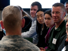 U.S. Army Forces Command hosts academic dialogue with strategic studies Ph.D. candidates, photo by Dave Chace/U.S. Army
