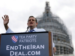 U.S. Senator Ted Cruz (R-TX) addresses a rally against the Iran nuclear deal at the U.S. Capitol, Washington, DC, September 9, 2015