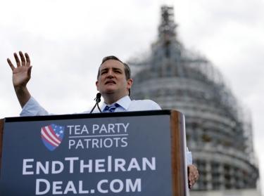 U.S. Senator Ted Cruz (R-TX) addresses a rally against the Iran nuclear deal at the U.S. Capitol, Washington, DC, September 9, 2015