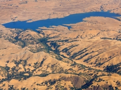 The San Antonio Reservoir, near San Francisco, California