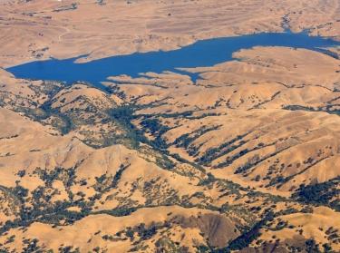 The San Antonio Reservoir, near San Francisco, California