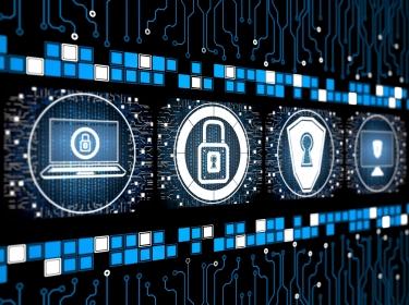 Digital internet security concept