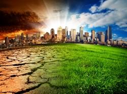 Global climate change visualization