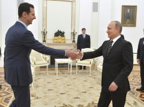 Syrian President al-Assad made a surprise visit to Moscow on October 20, 2015, to thank Russian President Putin for launching air strikes against Islamist militants in Syria, photo by Alexei Druzhinin/Reuters/RIA Novosti/Kremlin