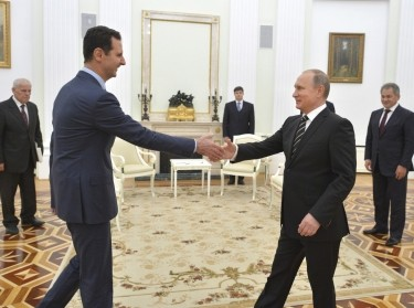 Syrian President al-Assad made a surprise visit to Moscow on October 20, 2015, to thank Russian President Putin for launching air strikes against Islamist militants in Syria
