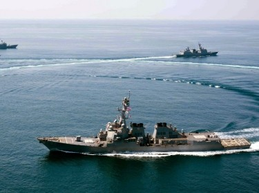 USS Lassen conducts exercises with Korean and Turkish navy ships