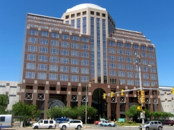Washington Tower, also known as the Pentagon City Tower, in the Pentagon City neighborhood of Arlington County, Virginia