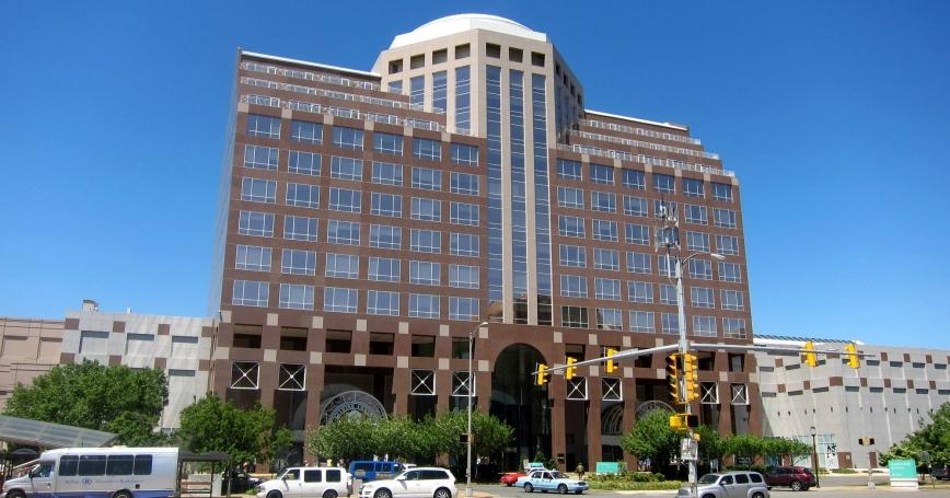 Washington Tower, also known as the Pentagon City Tower, in the Pentagon City neighborhood of Arlington County, Virginia