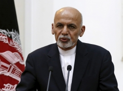 Afghanistan's President Ashraf Ghani speaks during a news conference in Kabul, September 29, 2015