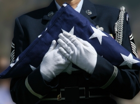 An honor detail at a military funeral, photo by DIGIcal/iStock