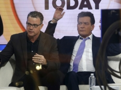 Actor Charlie Sheen on the set of the NBC Today show in New York City, November 17, 2015