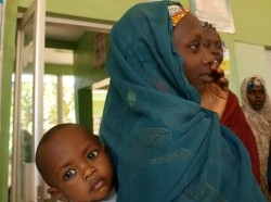 A mother and son in Nigeria