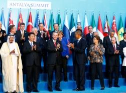 Members of the Group of 20 during the G20 leaders summit in Antalya, Turkey, November 15, 2015