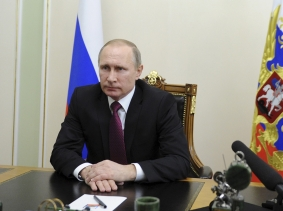 Russian news agencies reported that President Putin said the ceasefire in Syria is a real step towards halting the bloodshed and may become an example of action against terrorism, February 22, 2016