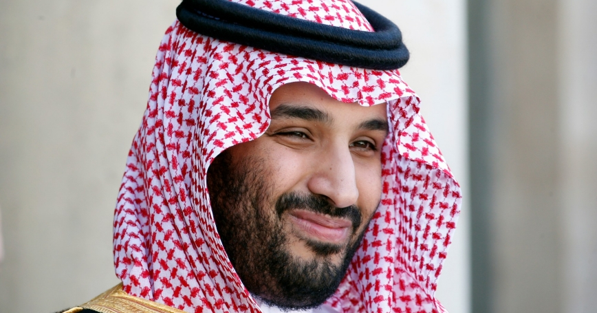 Saudi Arabia's Deputy Crown Prince Mohammed bin Salman arrives at the Elysee Palace in Paris, France, June 24, 2015