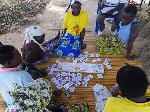 Women from the village of Okabi in Northern Uganda participate in a group research exercise investigating the value perception of rural electrification