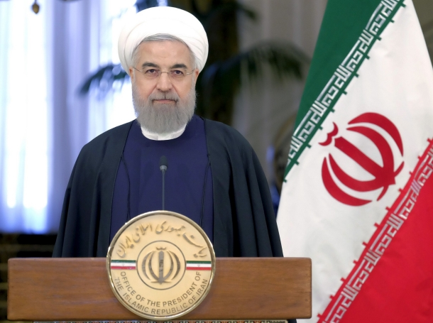 Iranian President Hassan Rouhani attend a news conference with Swiss President Johann Schneider-Ammann in Tehran, February 27, 2016