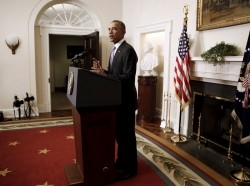 U.S. President Barack Obama delivers a statement on Iran at the White House, January 17, 2016