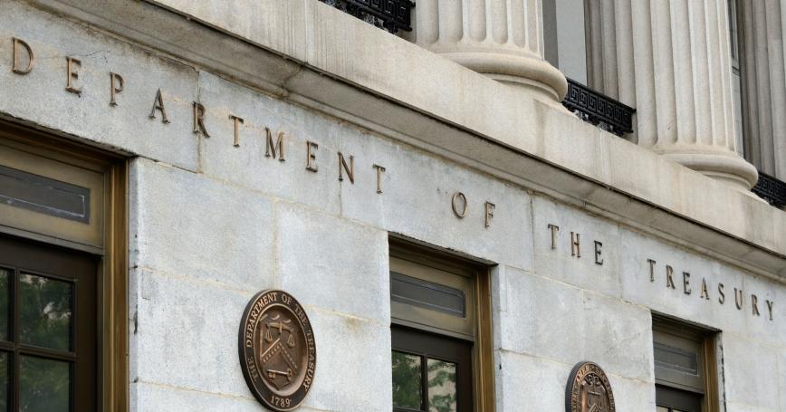 U.S. Treasury Building in Washington, D.C.