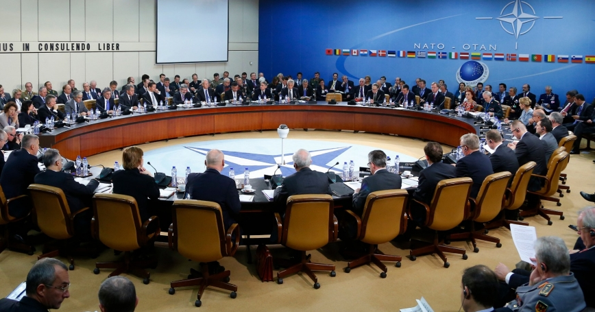 Russia's and NATO's Defence Ministers at a NATO-Russia defence ministers council at the Alliance headquarters in Brussels, October 23, 2013