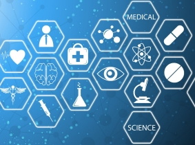 Illustration of medical technology innovation concept, design by Supachai/Fotolia