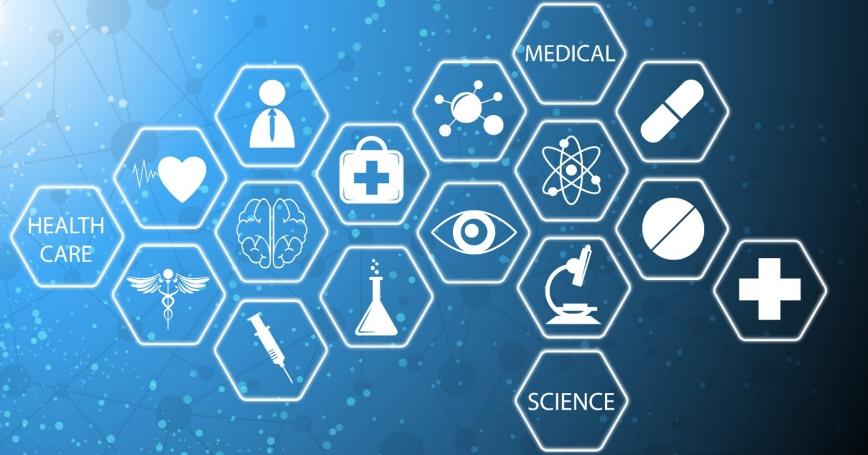 Illustration of medical technology innovation concept