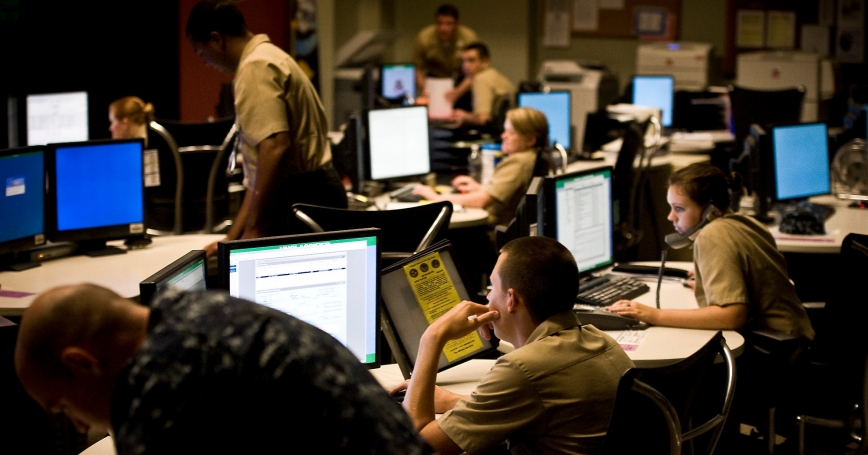 U.S. sailors assigned to Navy Cyber Defense Operations Command monitor, analyze, detect, and respond to unauthorized activity within U.S. Navy information systems and networks