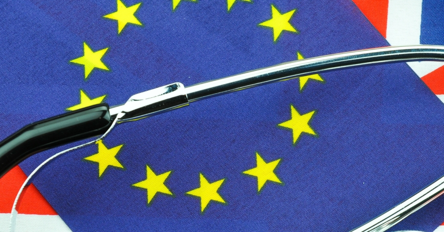 Brexit referendum concept with stethoscope