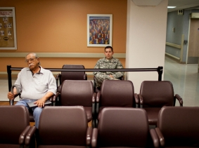 Veterans waiting for their appointments at the VA Medical Center in El Paso, Texas, photo by Ivan Pierre Aguirre/Reuters