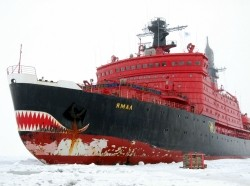 Icebreaker Yamal during removal of manned drifting station North Pole-36, August 2009