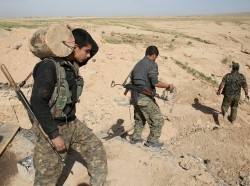 The Sinjar Resistance Units, an offshoot of a leftist Kurdish organization, and Abdulkhaleq al-Jarba, a Arab tribal militia, have opened up a new front against Islamic State militants in northern Iraq, April 30, 2016