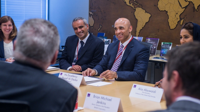 UAE Ambassador Yousef Al Otaiba meeting with RAND researchers June 1, 2016