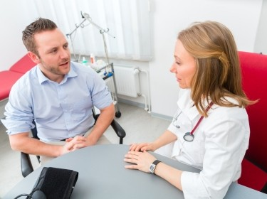 A patient visiting his primary care physician