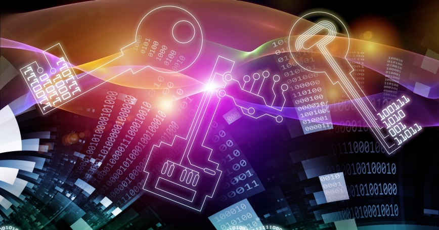 Illustration of data encryption