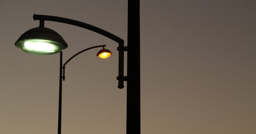 Streetlights at dusk