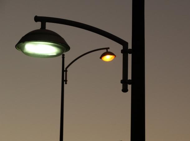 Streetlights at dusk