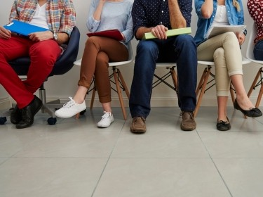 Young people waiting for a job interview