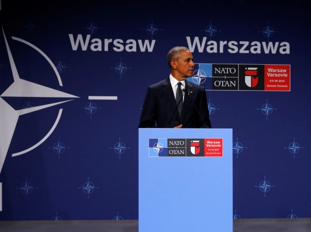 U.S. President Barack Obama meets with reporters at the NATO Summit in Warsaw, Poland, July 8, 2016