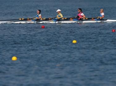 Ukraine's Olympic rowers training in Rio de Janeiro, Brazil, July 26, 2016