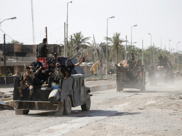 Iraqi counterterrorism forces in Falluja after they recaptured the city from the Islamic State in June 2016
