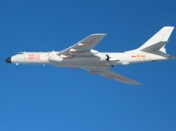 A People's Liberation Army Air Force's long-range strategic bomber H-6K