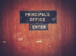 Retro grunge principal's office