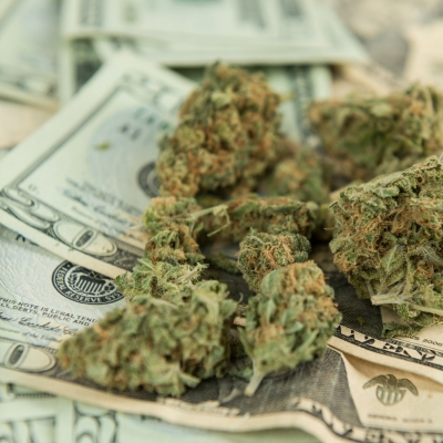 Marijuana on U.S. twenty dollar bills