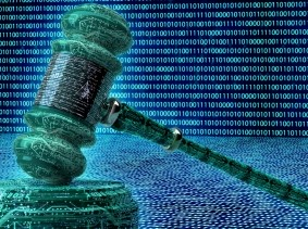 Cyber illustration of a judge's gavel