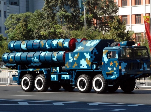 Chinese HQ-9 launcher during China's 60th anniversary parade in 2009