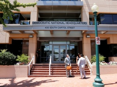 The headquarters of the Democratic National Committee is seen in Washington, D.C., June 14, 2016