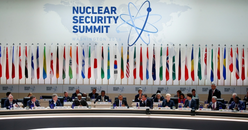 U.S. President Barack Obama chairs the closing session of the Nuclear Security Summit, focusing on the Counter-ISIL campaign, in Washington, April 1, 2016