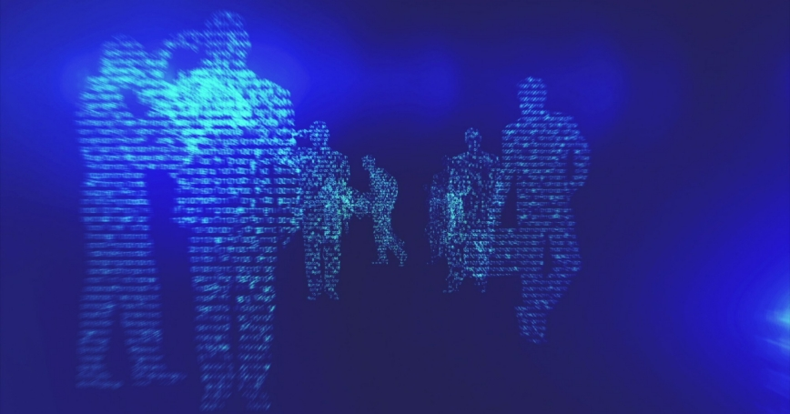Digital silhouettes of people