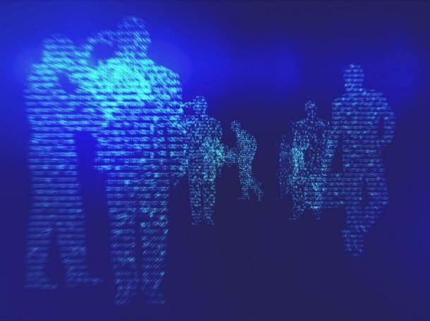 Digital silhouettes of people